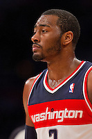 22 March 2013: Guard (2) John Wall of the Washington Wizards against the Los Angeles Lakers during the first half of the Wizards 103-100 victory over the Lakers at the STAPLES Center in Los Angeles, CA.