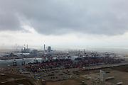 Nederland, Zuid-Holland, Maasvlakte,  22-05-2011; Euromax container terminal van ECT aan de Yangtzehaven. Op het tweede plan E.ON centrale en Maasvlakte 2..Euromax container terminal ECT and the Yangtze basin. At the horizon the E. ON power station and Maasvlakte 2..luchtfoto (toeslag), aerial photo (additional fee required).copyright foto/photo Siebe Swart