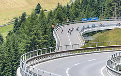 07.07.2017, St. Johann Alpendorf, AUT, Ö-Tour, Österreich Radrundfahrt 2017, 5. Kitzbühel - St. Johann/Alpendorf (212,5 km), im Bild Peloton, Feature Felbertauernstrasse // Peloton, Feature Felbertauernstrasse during the 5th stage from Kitzbuehel - St. Johann/Alpendorf (212,5 km) of 2017 Tour of Austria. St. Johann Alpendorf, Austria on 2017/07/07. EXPA Pictures © 2017, PhotoCredit: EXPA/ JFK