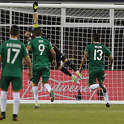 FOXBOROUGH, MASSACHUSETTS - JUNE 10: Goalkeeper Claudio Bravo #1 of Chile is beaten by a brilliant free kick from Jhasmani Campos #10 of Bolivia during the Chile Vs Bolivia Group D match of the Copa America Centenario USA 2016 Tournament at Gillette Stadium on June 10, 2016 in Foxborough, Massachusetts. (Photo by Tim Clayton/Corbis via Getty Images)