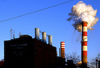 Coal, Electricity, Generation, High Tension, Plant, Power, pennsylvania, pollution, smoke, smoke stack, wires, west Penn power, Mitchell station