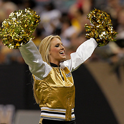2009 August 14: Saintsations dancers perform on the field during 17-7 win by the New Orleans Saints over the Cincinnati Bengals in their preseason opener at the Louisiana Superdome in New Orleans, Louisiana.