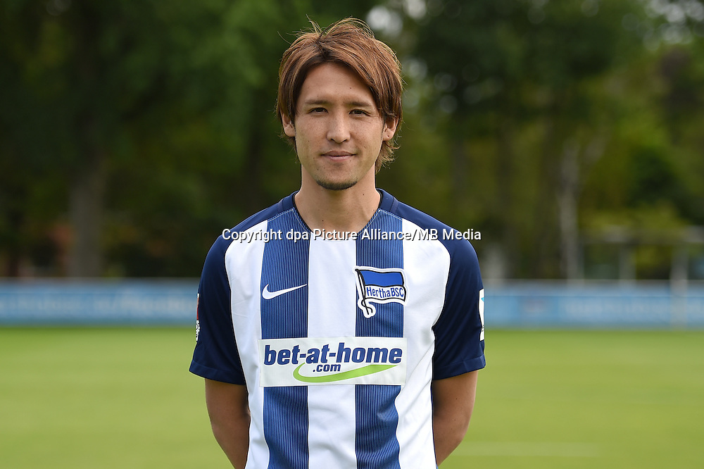 German Bundesliga - Season 2016/17 - Photocall Hertha BSC on 12 June 2016 in Berlin, Germany: Hajime Hosogai. Photo: Britta Pedersen/dpa | usage worldwide