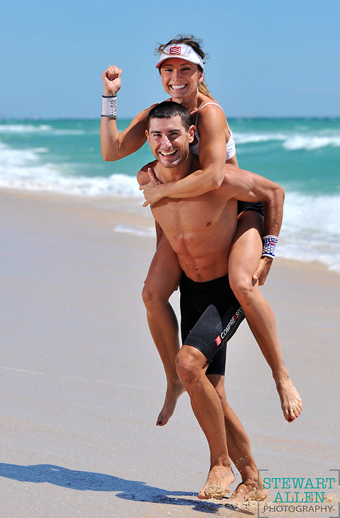 15/12/2012 SPORT: SPORT Jana Stafford-Jones and Simon Billeau  are a couple who are competing in the Indian Ocean Classic  They are pictured at Scarborough Beach  Story ben Papalia  photo Stewart Allen