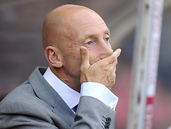 Crystal Palace Manager, Ian Holloway covers his mouth  - Photo mandatory by-line: Joe Meredith/JMP - Tel: Mobile: 07966 386802 27/08/2013 - SPORT - FOOTBALL - Ashton Gate - Bristol - Bristol City V Crystal Palace -  Capital One Cup - Round 2