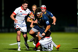 Ethan Waller of Worcester Cavaliers is tackled - Mandatory by-line: Robbie Stephenson/JMP - 24/09/2018 - RUGBY - Sixways Stadium - Worcester, England - Worcester Cavaliers v Sale Jets - Premiership Rugby Shield