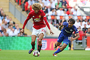 Marouane Fellaini Midfielder of Manchester United during the FA Community Shield match between Leicester City and Manchester United at Wembley Stadium, London, England on 7 August 2016. Photo by Phil Duncan.