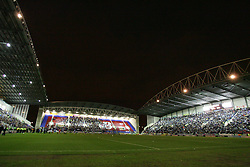 WIGAN, ENGLAND - TUESDAY, JANUARY 10th, 2006: The floodlights fail during the League Cup match between Wigan Athletic and Arsenal at the JJB Stadium. (Pic by Chris Brunskill/Propaganda)