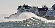 (SCITUATE MA 012416)-Huge waves roll into Scituate Harbor. Herald photo Chris Christo