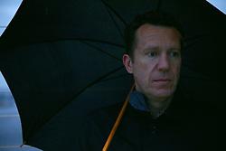 Portrait of Man under Umbrella