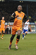 HUll City Forward, Sone Aluko during the The FA Cup fourth round match between Bury and Hull City at Gigg Lane, Bury, England on 30 January 2016. Photo by Mark Pollitt.