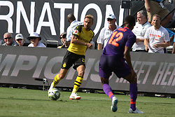 July 22, 2018 - Charlotte, NC, U.S. - CHARLOTTE, NC - JULY 22: Marcel Schmetzer (29) of Borussia Dortmund with the ball during the International Champions Cup soccer match between Liverpool FC and Borussia Dortmund in Charlotte, N.C. on July 22, 2018. (Photo by John Byrum/Icon Sportswire) (Credit Image: © John Byrum/Icon SMI via ZUMA Press)