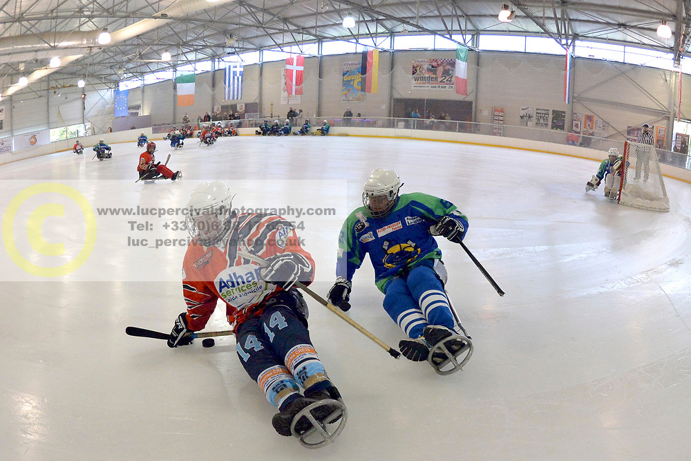 Demonstration Para Ice Hockey matches at City Glace, Le Mans