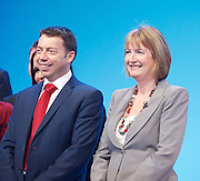 Iain McNicol <br /> General Secretary <br /> of The Labour Party <br /> speech 'Rebuilding our party'<br /> 22nd September 2013 <br /> at The Labour Annual Party Conference, Brighton, Great Britain <br /> <br /> <br /> iain McNicol  <br /> <br /> Harriet Harman <br /> <br /> <br /> <br /> Photograph by Elliott Franks <br /> contact:<br /> Tel: 07802 537 220 <br /> email: elliott@elliottfranks.com<br /> www.elliottfranks.com<br /> <br /> Agency space rates apply <br /> editorial use only <br /> 2013 © Elliott Franks