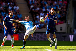 August 5, 2018 - Bernardo Silva of Manchester City and Jorginho of Chelsea during the 2018 FA Community Shield match between Chelsea and Manchester City at Wembley Stadium, London, England on 5 August 2018. (Credit Image: © AFP7 via ZUMA Wire)