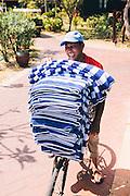 Delivering pool towels at the Meritus Resort, Langkawi