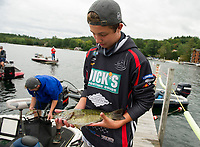 NHIAA State Qualifier bass fishing tournament at Center Harbor Beach, Lake Winnipesaukee.  Karen Bobotas for the Laconia Daily Sun