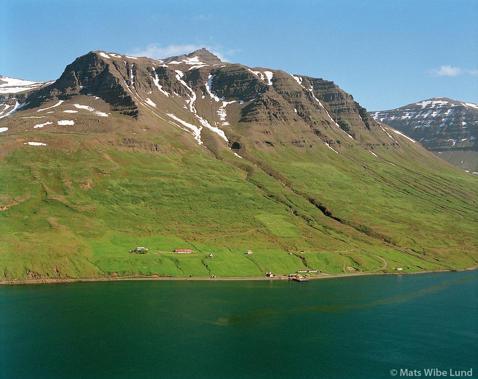 Brekka, Mjóifjörður, Mjóafjarðarhreppur,.Brekka, Mjoifjordur, Mjoafjardarhreppur,
