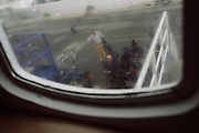Forze dell'ordine s'imbarcano per l'isola del Giglio al porto di Santo Stefano. Giglio, 15 settembre 2013. Christian Mantuano / OneShot