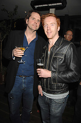 Left to right, BARNABY THOMPSON and DAMIAN LEWIS at the launch Beyond The Rave - Hammer's first horror movie in 30 years, held at Shoreditch House, London on 16th April 2008.<br /><br />NON EXCLUSIVE - WORLD RIGHTS