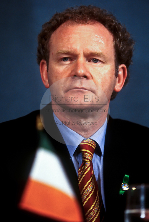 Irish Sinn Fein leader Martin McGinnis September 3, 1997 in Washington, DC.