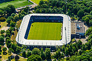 Nederland, Gelderland, Nijmegen, 29-05-2019; Goffert, Goffertstadion (Stadion De Goffert, bijgenaamd De Bloedkuul), N.E.C. (NEC). Gelegen in het Goffertpark.<br /> Goffert Stadium N.E.C. (NEC). Located in the Goffertpark.<br /> <br /> luchtfoto (toeslag op standard tarieven);<br /> aerial photo (additional fee required);<br /> copyright foto/photo Siebe Swart