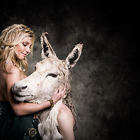 Queen of the Fairies, Titania and her lover Bottom , who was turned into a Donkey by Puck.