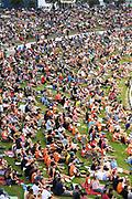 A general view of Bay Oval's fans.<br /> Pakistan tour of New Zealand. T20 Series. 3rd Twenty20 international cricket match, Bay Oval, Mt Maunganui, New Zealand. Sunday 28 January 2018. © Copyright Photo: Andrew Cornaga / www.Photosport.nz