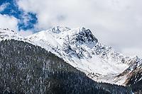 Snow covered 13.370 ft. Sultan Mountain of the San Juan Mountains, near Silverton, Colorado.