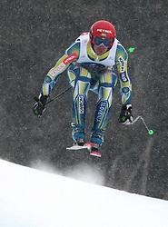 17/12/2010 ALPINE SKI WORLD CUP VAL GARDENA 2010 FIS SKI WELT CUP. Andrej Jerman of Slovenia competes during the Audi FIS Alpine Ski World Cup Men's SuperG on December 17, 2010 in Val Gardena, Italy.  © Photo Pierre Teyssot / Sportida.com.