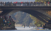 Crews compete at the Head of the Gorge Rowing Regatta along the Gorge Waterway in Victoria B.C. Oct 26, 2013