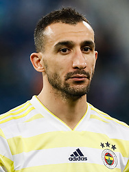 February 21, 2019 - Saint Petersburg, Russia - Mehmet Topal of Fenerbahce SK looks on during the UEFA Europa League Round of 32 second leg match between FC Zenit Saint Petersburg and Fenerbahce SK on February 21, 2019 at Saint Petersburg Stadium in Saint Petersburg, Russia. (Credit Image: © Mike Kireev/NurPhoto via ZUMA Press)