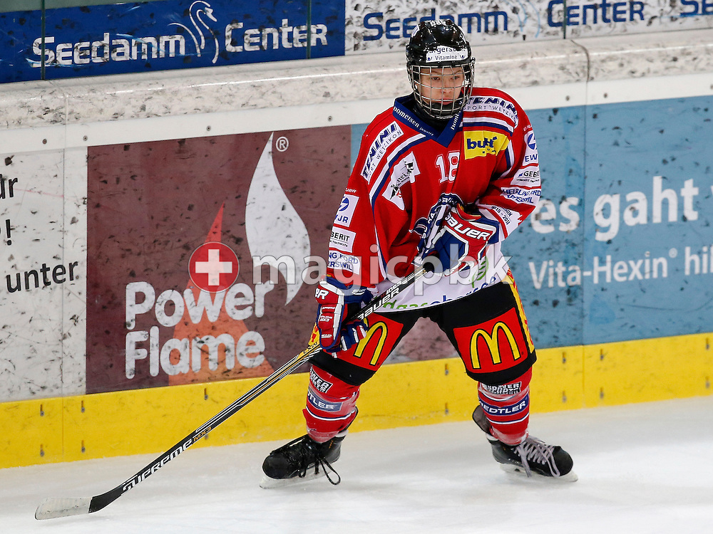 Rapperswil-Jona Lakers defenseman Terry SCHNYDER is pictured during a Novizen Elite ice hockey game between Rapperswil-Jona Lakers and SC Bern Future held at the Diners Club Arena in Rapperswil, Switzerland, Saturday, Feb. 6, 2016. (Photo by Patrick B. Kraemer / MAGICPBK)