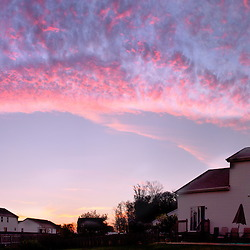 Panorama stitched together for the evening October Sky in 2010. (Christina Paolucci, photographer).