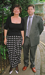 The HON.DOMINIC and the HON.ROSA LAWSON, she was a good friend of the late Diana, Princess of Wales, at a party in London on 25th June 1998.MIT 56