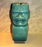 Jade votive axe: Olmec, 1200-400 BC. Mexico Mesoamerican Artefact Pre-Columbian