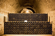 Comtes de Champagne which has been ageing 8-10 years in caves of Taittinger Champagne in Reims, Champagne-Ardenne, France