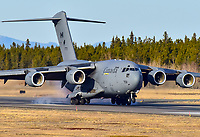 One of a series of touch and go passes made by this 429 Squadron Globemaster lll.