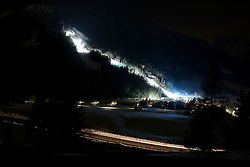 Course in the evening prior to the 10th Men's Giant Slalom race of FIS Alpine Ski World Cup 55th Vitranc Cup 2016, on March 4, 2016 in Kranjska Gora, Slovenia. Photo by Vid Ponikvar / Sportida