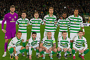 Celtic team pose for their picture ahead of the Europa League match between Celtic and Rennes at Celtic Park, Glasgow, Scotland on 28 November 2019.