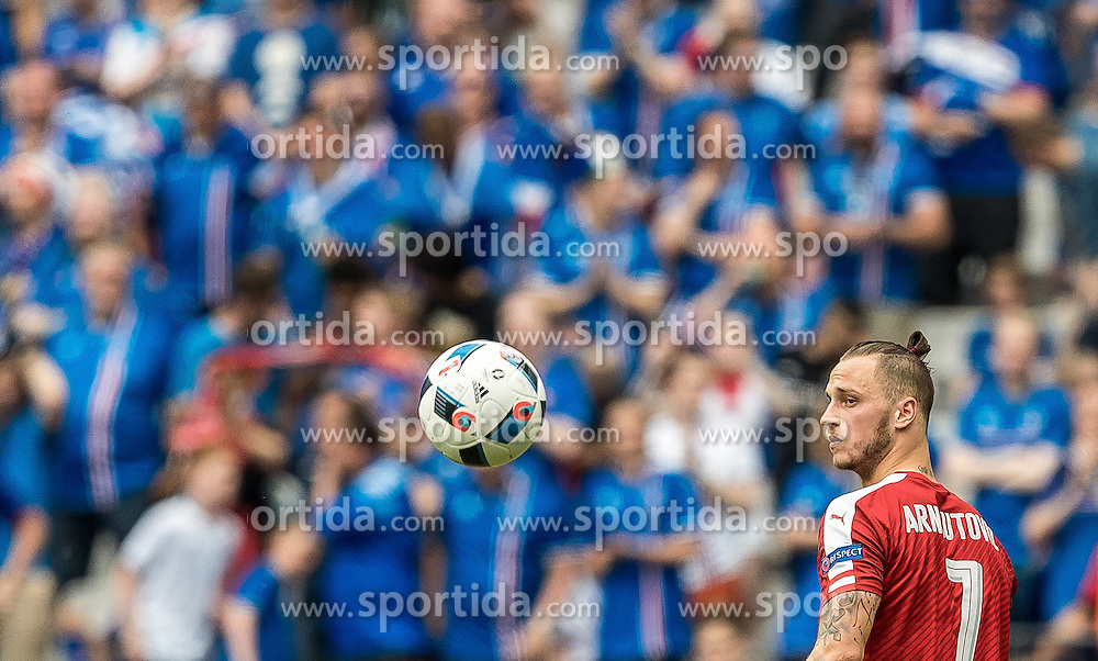 23.06.2016, Stade de France, St. Denis, FRA, UEFA Euro 2016, Island vs Oesterreich, Gruppe F, im Bild Marko Arnautovic (AUT) // Marko Arnautovic (AUT) during Group F match between Iceland and Austria of the UEFA EURO 2016 France at the Stade de France in St. Denis, France on 2016/06/23. EXPA Pictures © 2016, PhotoCredit: EXPA/ JFK