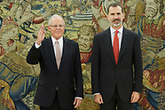 061317 King Felipe VI attends an audience with Pedro Pablo Kuczynski, President of Peru