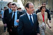 François Hollande, kanidaat van de Partie Socialiste bij de Franse  Presidentsverkiezingen. Meeting in Tours.