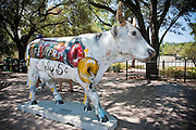 Life Savers Cow, a piece in CowParade by Greg Miller, Austin, Texas, August 6, 2011.  CowParade is considered to be the largest and most recognized public art event in the world. Starting July 2011, about 100 cows painted by local artists went on display throughout Austin.