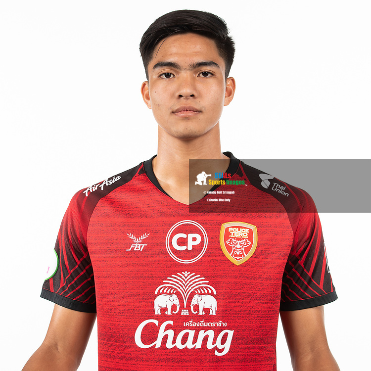 THAILAND - MARCH 05: Wongpakorn Jareontaveesuk #43 of Police Tero FC on March 05, 2019.<br /> .<br /> .<br /> .<br /> (Photo by: Naratip Golf Srisupab/SEALs Sports Images/MB Media Solutions)