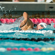 16 November 2017: The San Diego State women's swim team competes in the 2017 A3 Performance Invitational held at the SDSU Aquaplex. SDSU  junior Anna Stahlak competes in the 500 yard freestyle event.<br /> www.sdsuaztecphotos.com