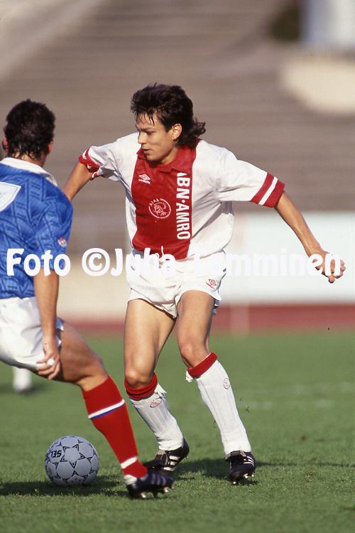 27.7.1993, Hiihtostadion, Lahti, Finland.<br /> Friendly match, AFC Ajax v Portsmouth FC.<br /> Jari Litmanen - Ajax