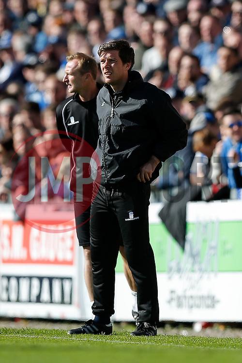 Bristol Rovers Manager Darrell Clarke looks on - Photo mandatory by-line: Rogan Thomson/JMP - 07966 386802 - 11/04/2015 - SPORT - FOOTBALL - Bristol, England - Memorial Stadium - Bristol Rovers v Southport - Vanarama Conference Premier.