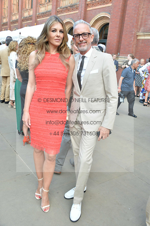 Liz Hurley and Patrick Cox at the V&A Summer Party 2017 held at the Victoria & Albert Museum, London England. 21 June 2017.<br /> Photo by Dominic O'Neill/SilverHub 0203 174 1069 sales@silverhubmedia.com