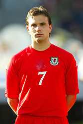 OSLO, NORWAY - Thursday, May 27, 2004:  Wales' Carl Fletcher pictured before the International Friendly match at the Ullevaal Stadium, Oslo, Norway. (Photo by David Rawcliffe/Propaganda)